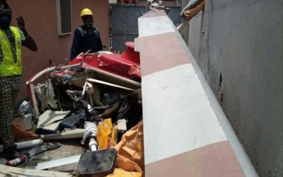 Helicopter crashed into a residential building