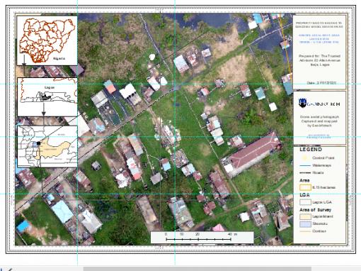 Drone aerial survey and mapping – Lagos Island _ Somolu
